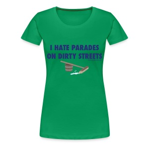 Parades (with blue letters for lighter shirts) - Women's Premium T-Shirt