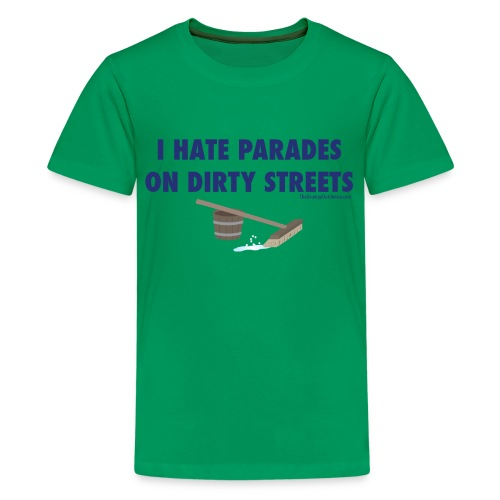 Parades (with blue letters for lighter shirts) - Kids' Premium T-Shirt