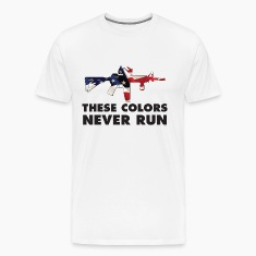 USA PATRIOT - THESE COLORS NEVER RUN T-Shirts