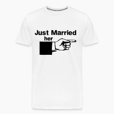 Just Married Her Pointing Finger T-Shirts
