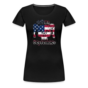 American Skull - Woman's Fitted T - Women's Premium T-Shirt