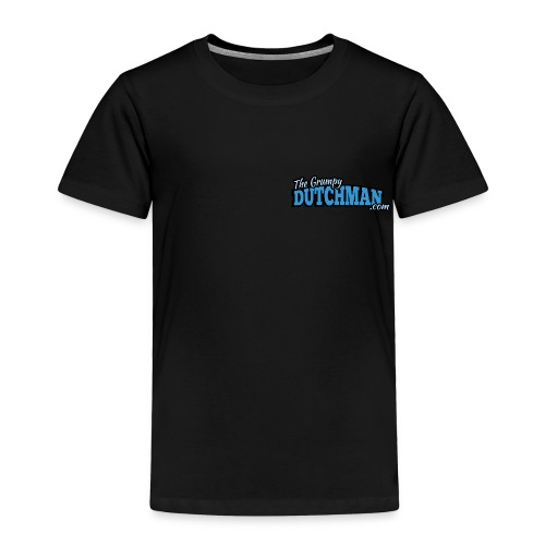 Grumpy Logo - Back (with white lines for dark shirts) - Toddler Premium T-Shirt