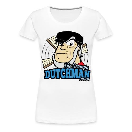 Grumpy Logo - Front (with dark lines for lighter shirts) - Women's Premium T-Shirt