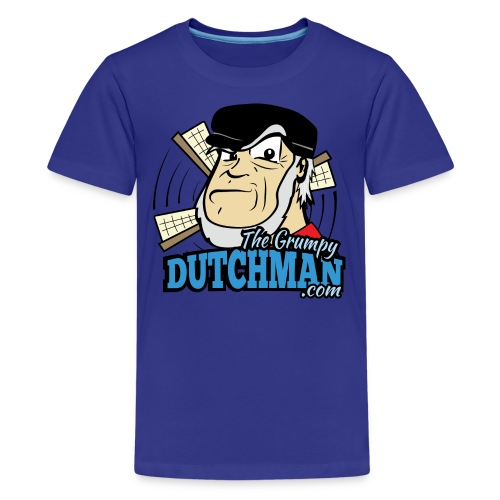 Grumpy Logo - Front (with dark lines for lighter shirts) - Kids' Premium T-Shirt