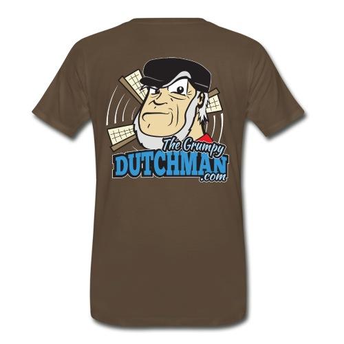 Grumpy Logo - Back (with white lines for dark shirts) - Men's Premium T-Shirt