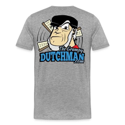 Grumpy Logo - Back (with dark lines for lighter shirts) - Men's Premium T-Shirt