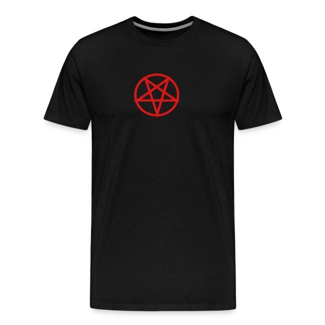 Pentagram heavy tee - black/red