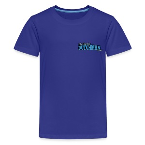 Grumpy Logo - Back (with white lines for dark shirts) - Kids' Premium T-Shirt
