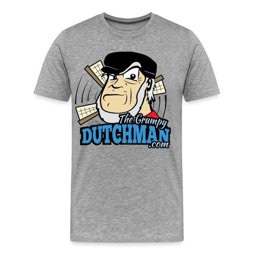 Grumpy Logo - Front (with dark lines for lighter shirts) - Men's Premium T-Shirt