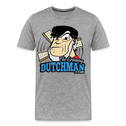 Grumpy Logo - Front (with dark lines for lighter shirts) - Men's Premium T-Shirt