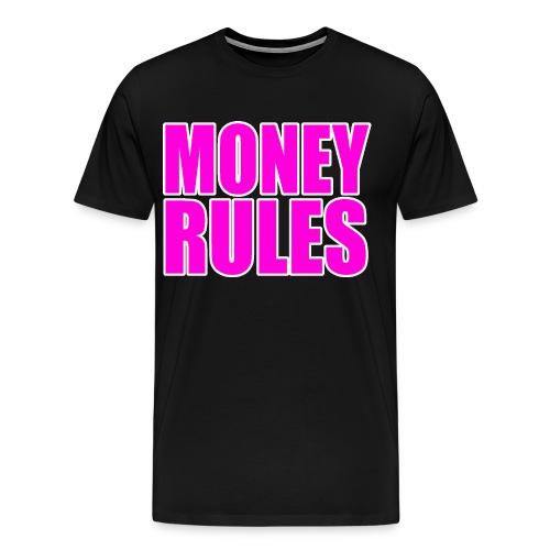 Money Rules Macho Pink 3XL & 4XL - Men's Premium T-Shirt