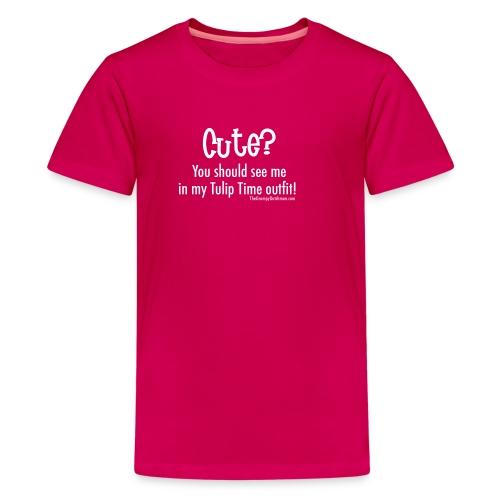 Tulip Time (white lettering for darker shirts) - Kids' Premium T-Shirt