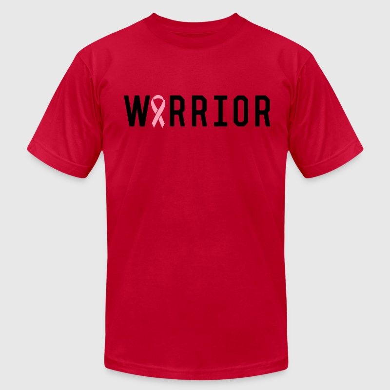 Breast Cancer Warrior T-Shirts - Men's T-Shirt by American Apparel
