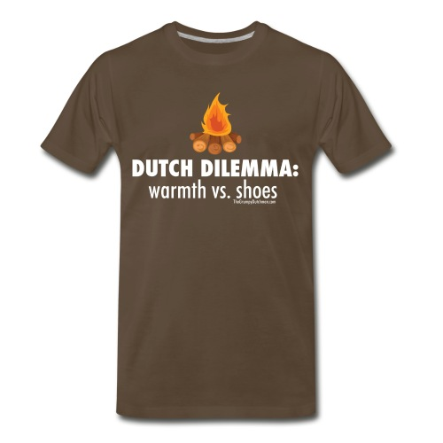 Dutch Dilemma (with white lettering for darker shirts) - Men's Premium T-Shirt