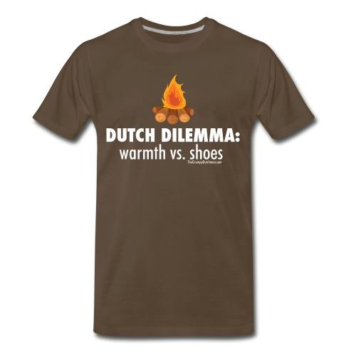 Dutch Dilemma (with white lettering for darker shirts) - Men's Premium T-Shirt