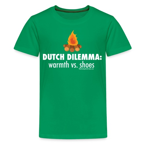 Dutch Dilemma (with white lettering for darker shirts) - Kids' Premium T-Shirt
