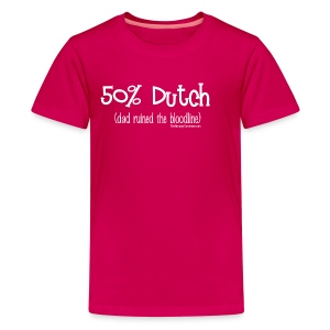 Bloodline - Dad (with white lettering for darker shirts) - Kids' Premium T-Shirt