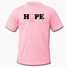 Hope. Breast Cancer Ribbon T-Shirts