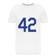 T-Shirts ~ Men's Premium T-Shirt ~ Jackie Robinson 42 Heavyweight T Shirt