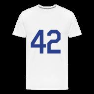 T-Shirts ~ Men's Premium T-Shirt ~ Jackie Robinson 42 Heavyweight T Shirt