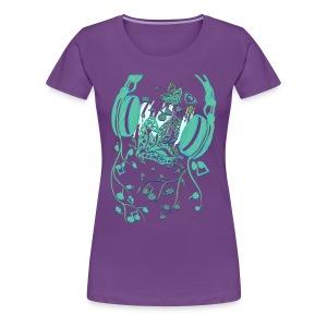 Music Butterfly - Women's Premium T-Shirt
