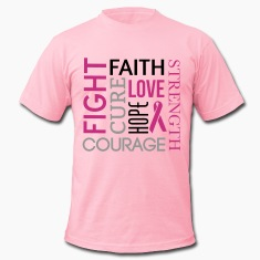 Breast Cancer Word Cloud T-Shirts