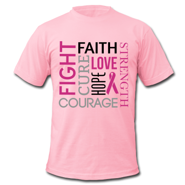 Breast Cancer Word Cloud T Shirt Spreadshirt