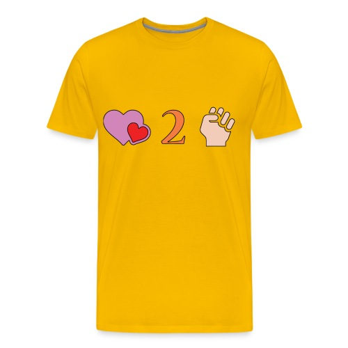 Love 2 Fist - Men's Premium T-Shirt