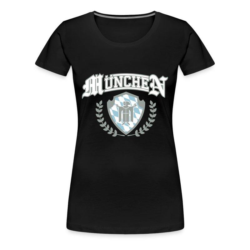 muenchen insignia bavaria bayern t shirt spreadshirt. Black Bedroom Furniture Sets. Home Design Ideas