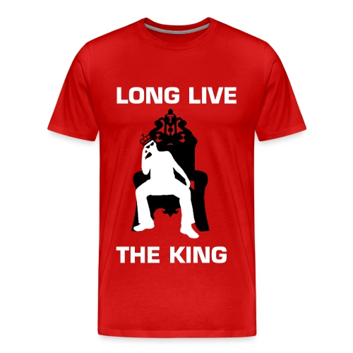KLIFF KINGSBURY LONG LIVE THE KING TEE - RED - Men's Premium T-Shirt
