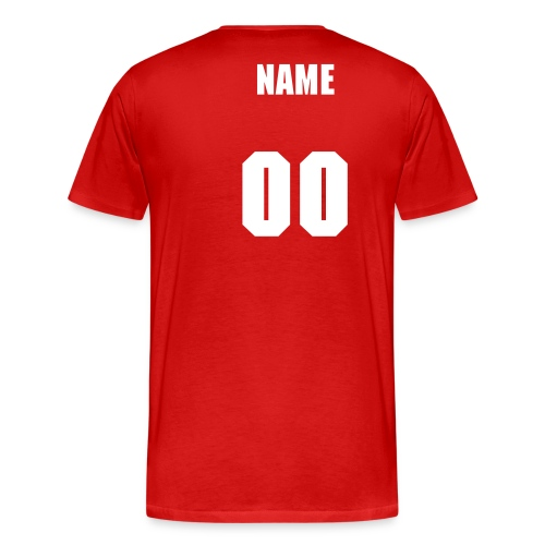 1st Grade Team PLUS -Customize Back With Name  - Men's Premium T-Shirt