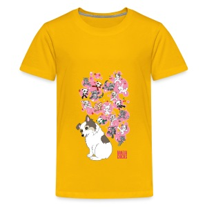 Freckles the Australian Shepherd and Kawaii Animal Friends! - Kids' Premium T-Shirt