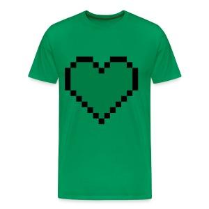 Green Creeper Heart T-shirt - Men's Premium T-Shirt