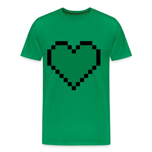 Green Creeper Heart T-shirt - Men's Premium T-Shirt