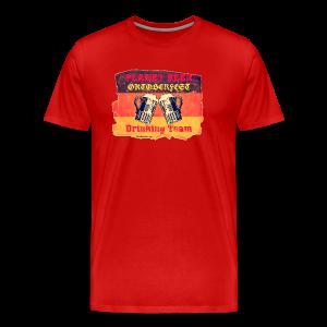 Planet Beer Retro Oktoberfest Drinking Team Men's 3XL/4XL T-Shirt  - Men's Premium T-Shirt