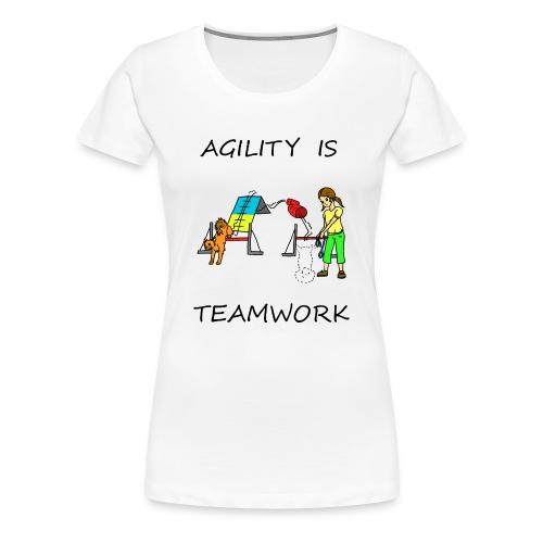 Agility Is - Teamwork - Women's Premium T-Shirt