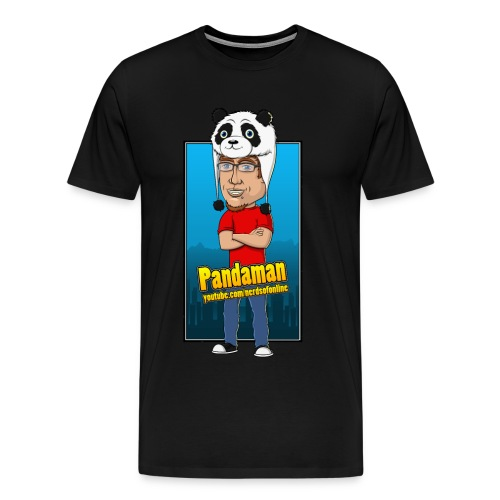 Nerds Of Online - Pandaman T-Shirt - Men's Premium T-Shirt