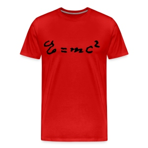 E=mc2 and the Mystery of Light - Men's Premium T-Shirt