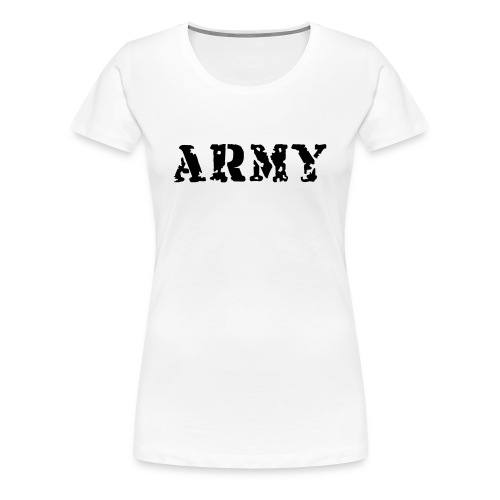 WOMENS - ARMY - Classic Fit Womens T-Shirt - Women's Premium T-Shirt