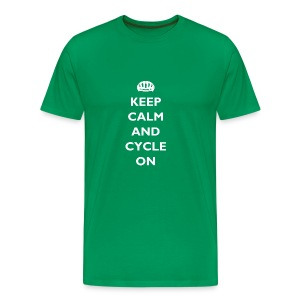 Keep Calm and Cycle On - Men's Premium T-Shirt