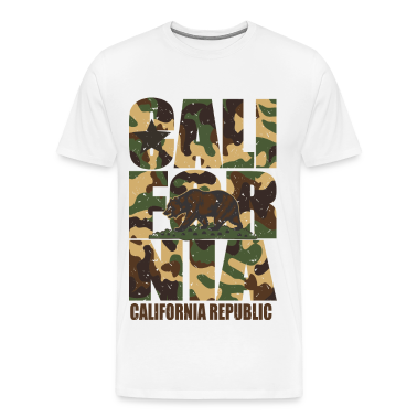 California Bear Vintage Camo Camouflage T-Shirts