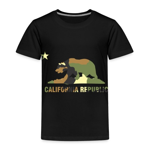 CALIFORNIA REPUBLIC Bear Camoflage - Toddler Premium T-Shirt