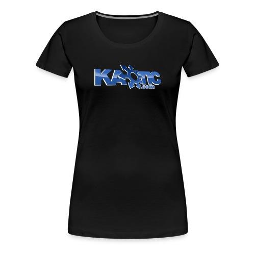 Kaotic Womens Black Fitted Tee - Women's Premium T-Shirt