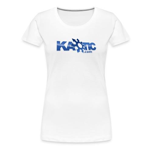 Kaotic Womens White Fitted Tee - Women's Premium T-Shirt