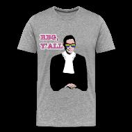 T-Shirts ~ Men's Premium T-Shirt ~ RBG Y'All Rainbow Sunglasses (Men's T)