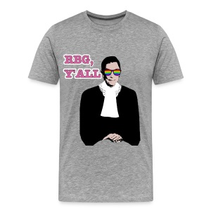 RBG Y'All Rainbow Sunglasses (Men's T) - Men's Premium T-Shirt