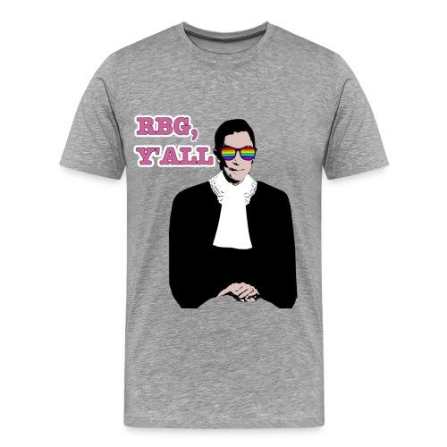 RBG Y'All Rainbow Sunglasses (Men's T) - Men's Premium T-Shirt