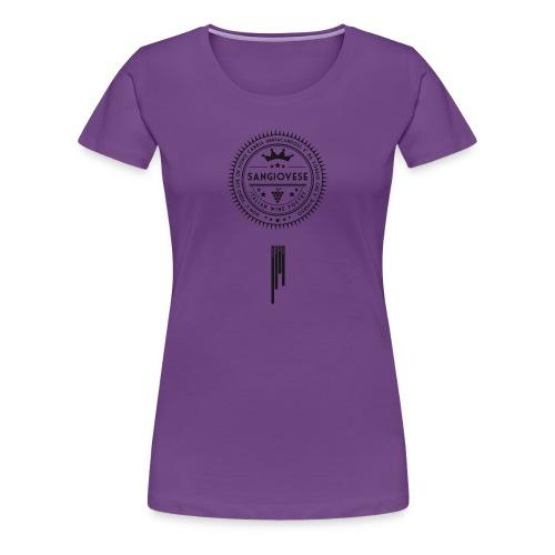 Italian Wine Poetry - SANGIOVESE - Women's Premium T-Shirt