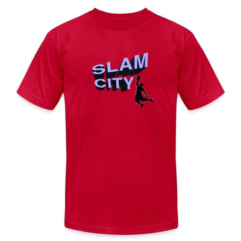slamcity2 - Men's Fine Jersey T-Shirt