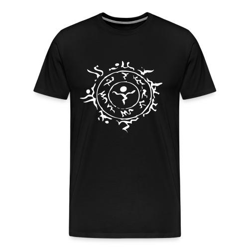 [M] White Schwarz Stein Hora Face Paint - Men's Premium T-Shirt